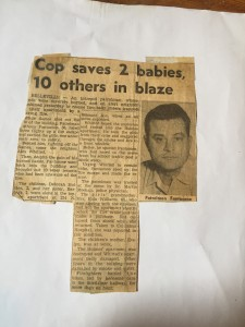 The caption of the article says it all. Officer Anthony Fantacone, my father to whom this book is dedicated, singlehandedly save 12 people. I invite you to read it.