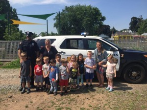 "A huge thank you to the Clifton Police Department's Officer J. Smith who showed up with a squad car for children to 'investigate' upon completing the children's book ""Officer Tony Says Be Careful"""
